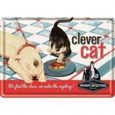Clever Cat - Metalna razglednica