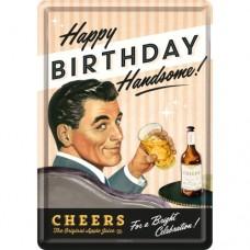 Happy Birthday Man - Metalna razglednica