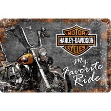 Harley-Davidson Favourite Ride - Znak 20x30cm
