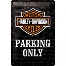 Harley-Davidson Parking Only - Znak 20x30cm