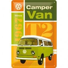 VW T2 Camper Van - Znak 20x30cm