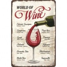 World of Wine - Znak 20x30cm