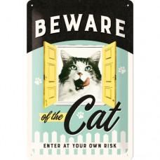 Beware of the Cat - Znak 20x30cm