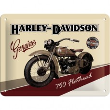 Harley-Davidson Flathead - Znak 15x20cm